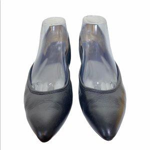 Frye Regina Black Leather Flat